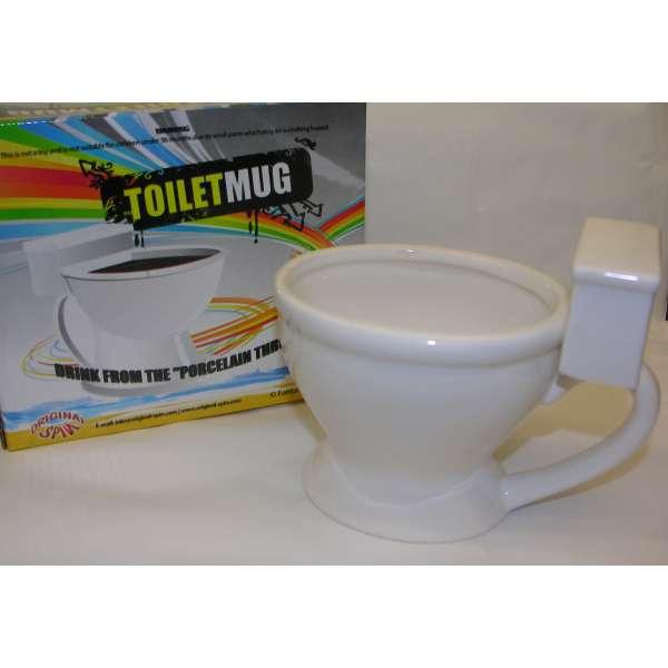 Klo-Tasse Toilette WC XL Geschenk Idee Mitbringsel Kaffee Tee Scherzartikel Fun