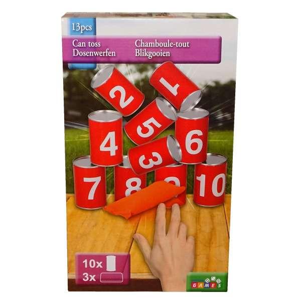 Dosenwerfen Kinder Spiel Drinnen und Draußen Geburtstag Party Mitgebsel Tombola