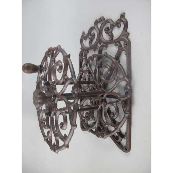 Garten Wand Schlauchhalter mit Kurbel Guss Eisen Metall Gartenschlauch Trommel