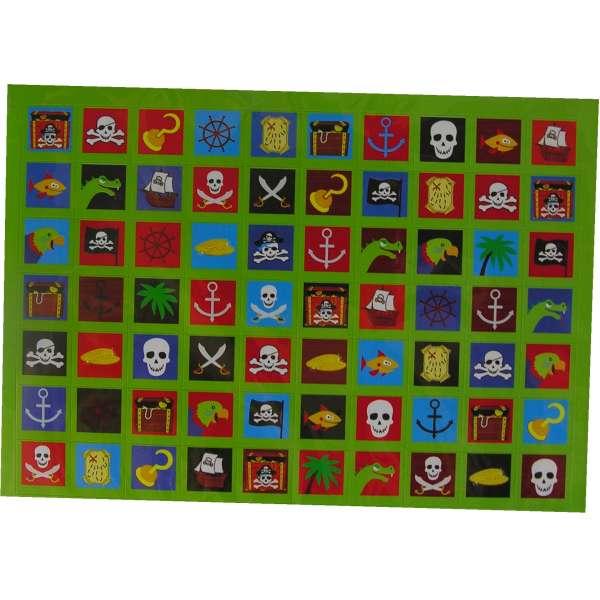 140 Piratensticker Piraten Sticker Kinder Abenteuer Aufkleber Tombola bunt