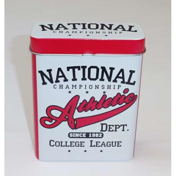 Zigarettenetui Zigarettenbox Box Behälter Metall für 24 Zigaretten Zigarillo Athletic