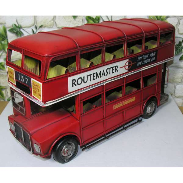 London Bus Routemaster Autobus 32cm Doppeldecker Bus Modell Blech Deko Retro Stil