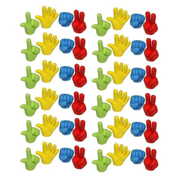 48er Set Hand Radiergummi Radierer Mitgebsel Kindergeburtstag Party Tombola bunt