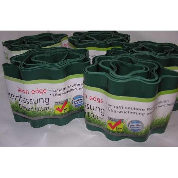 30m Rasenkante Beet Einfassung Mähkante Umrandung Begrenzung grün flexibel