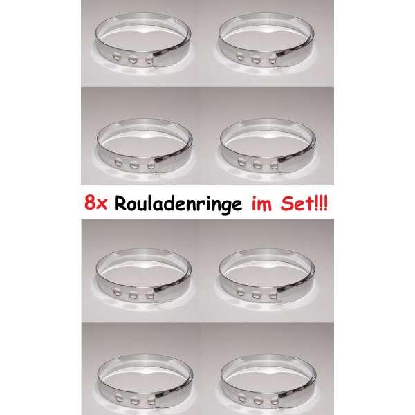 8x Rouladenringe Rouladenhalter Rouladenbinder Klammer Ringe Edelstahl rostfrei