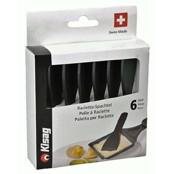 6er Set KISAG Raclettespachtel aus Polyamid 12cm Pfannenwender Raclette Schaber Spachtel
