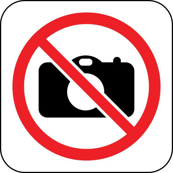 Papierkorb vintage lila blau Papiereimer Metall Mülleimer Garten Blumen Landhaus