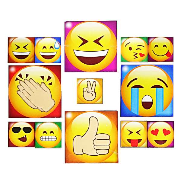 13 tlg Kühlschrank Magnete Set Emoji Smile Magnet Pinnwand Küchen Memo Smiley