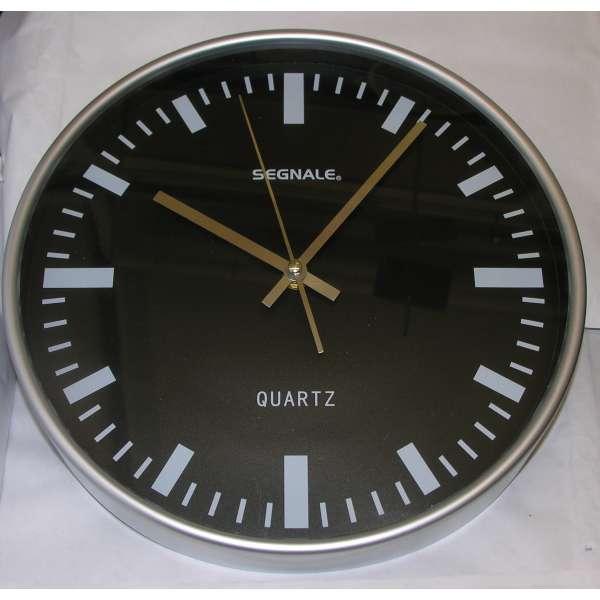 Wanduhr Segnale 30cm Bahnhofsuhr schwarz Büro Retro-Design Uhr Classic