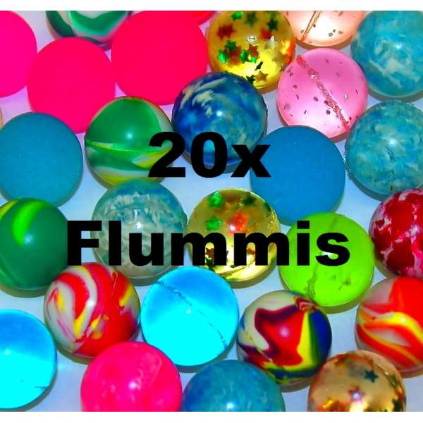 20x bunte Flummis Gummiball Hüpfball Springball Flummi Tombola Mitgebsel Party