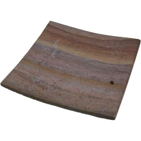 Seifenschale Seifen-Ablage aus Natur Sandstein quadratisch 10x10cm Handarbeit