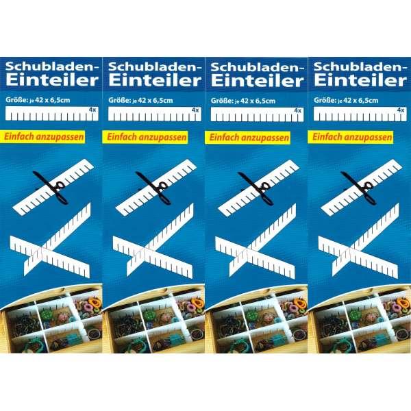 16x Schubladenteiler Schubladen Einteiler Einsatz Fach Ordnungssystem Fachteiler