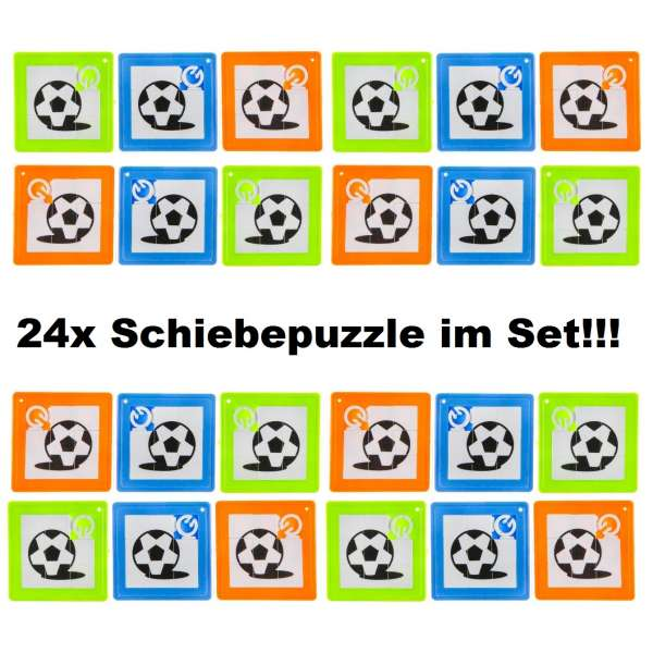 24x Schiebepuzzle Kinder Puzzle Spiel Geduldspiel Mitgebsel Geburtstag Fußball