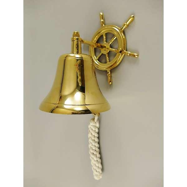 Maritime Schiffsglocke Messing Steuerrad Schiff Haus Klingel Wandglocke Glocke Deko