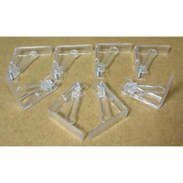 8x Tischtuchklammer transparent Tischdecken Klammern Tischtuchhalter Halter