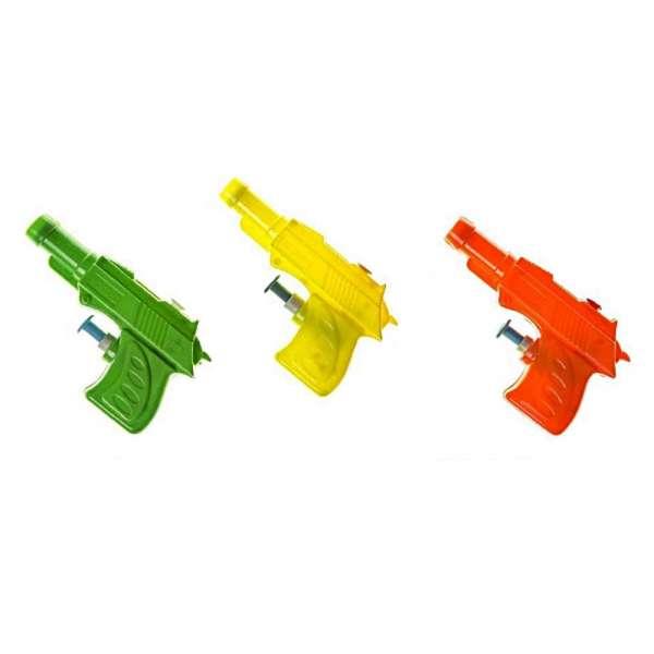 3x Wasserpistole 9,5cm Spritzpistole Wasserspritze Kinder Mitgebsel Tombola Party