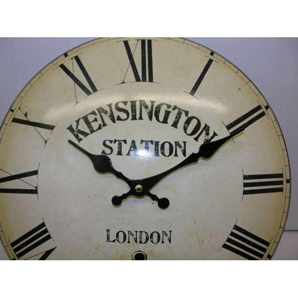 Gewölbte Shabby Chic Wanduhr KENSINGTON Metall 33cm Bahnhofsuhr Nostalgie Antik