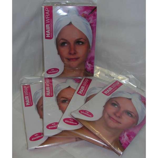 5x Kopfhandtuch Kopftuch Haarturban Mikrofaser Haar-Turban Handtuch