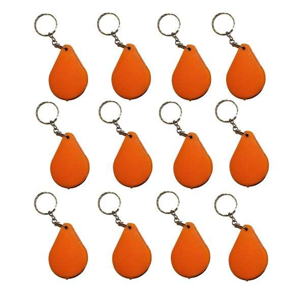 12er Set Lupe Einschlaglupe an Kette Vergrößerungsglas Mitgebsel Kinder orange