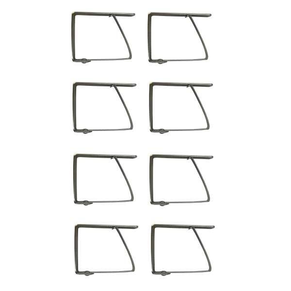 8x Edelstahl Tischtuchklammern Tischdecken Klammer Halter rostfrei Clips stabil