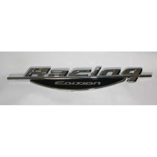 3D Autoaufkleber Racing Edition Chrom Silber Schriftzug Tattoo Emblem Logo Heckaufkleber