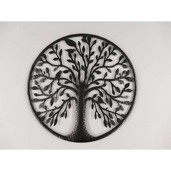 Wanddeko Baum Tree of Live Wandbild Hauswand Deko Wand Bild Metall Blech schwarz