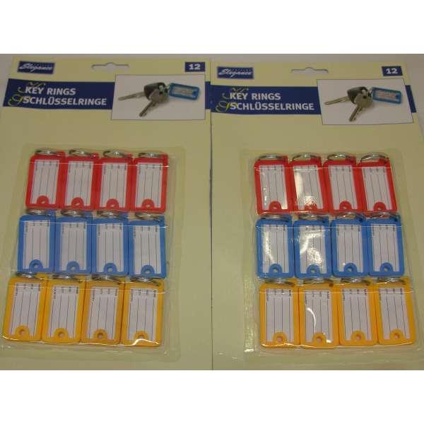 24x Schlüssel Schilder Anhänger Etikett Adressdaten Kofferanhänger