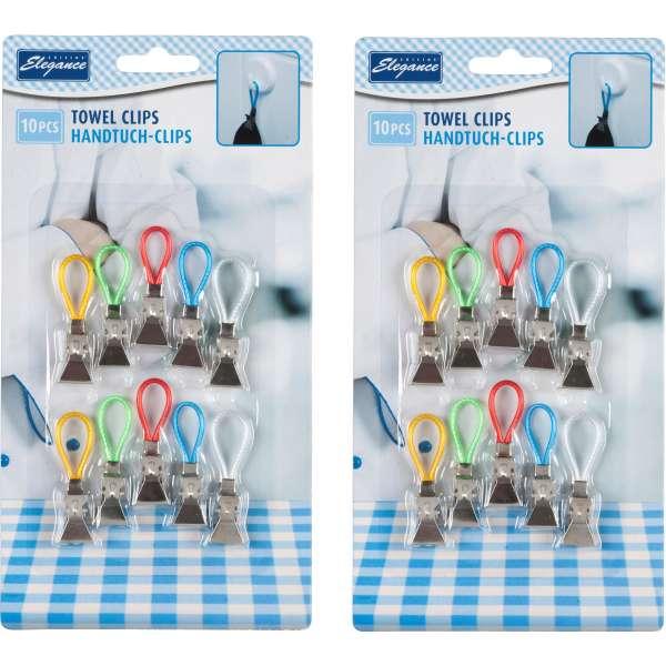 20x Handtuch Clips Handtuchhalter Halter Aufhänger Aufhängeclips Handtuchclips