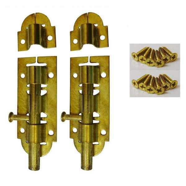 2x Sicherheitsriegel für Tür Fenster Türriegel Bolzenriegel Schlossriegel Riegel
