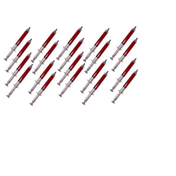 20x Dauerschreiber Spritze Medizin Kugelschreiber Stift Schreibstift Kulli rot