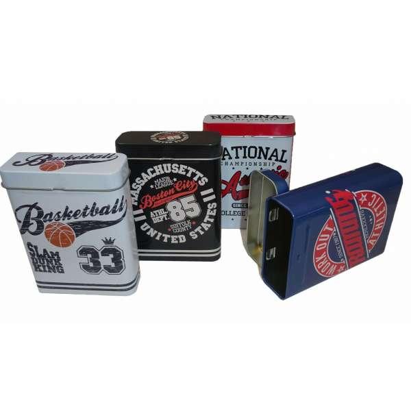4x Zigarettenetui Zigarettenbox Box Behälter Metall für 24 Zigaretten Zigarillo