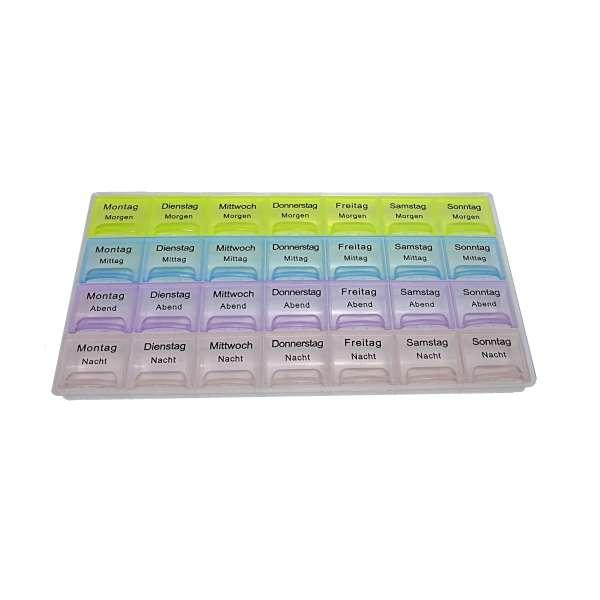 7 Tage Pillendose Tablettendose Tablettenbox Spender Medikamenten-Box versch. Farben
