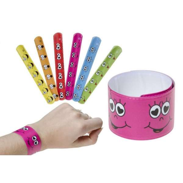 20x Klatscharmband Schnapparmband Armband Mitgebsel Tombola Geburtstag Smiley bunt