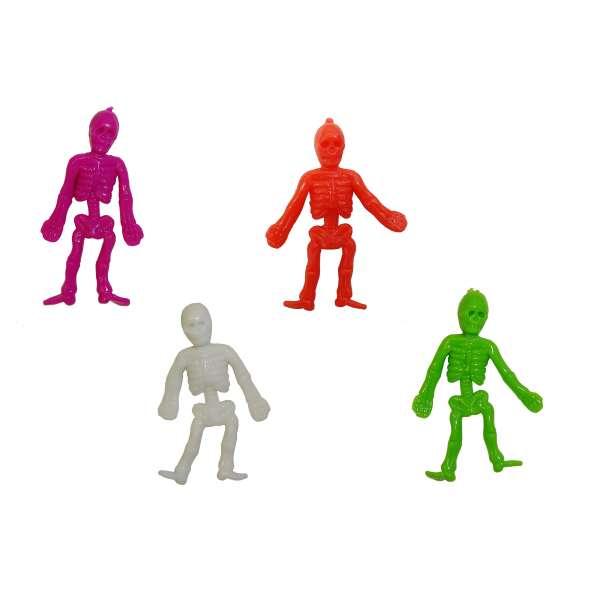4er Set Fensterkletterer Skelette 4 Farben Mitgebsel Tombola Geburtstag Helloween