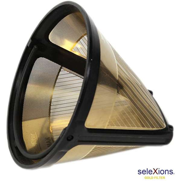 seleXions Kaffeefilter groß Goldfilter 1x4 Dauerfilter Permanentfilter 6-12 Tassen