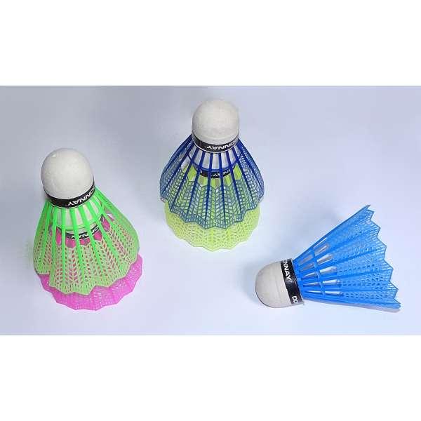 5x Federbälle Badmintonbälle Bälle Ersatz Federball Spielball Sport Ball bunt