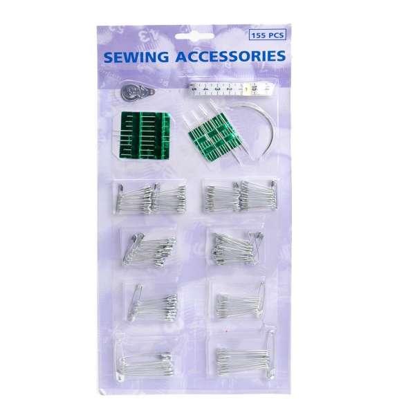 155tlg Nähzubehör Nähset Nähzeug Maßband Nadeln Sicherheitsnadeln Set