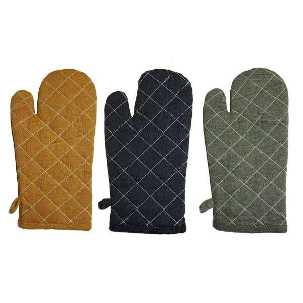 Ofenhandschuh lang Back-Handschuh Grillhandschuh Topfhandschuh 100% Baumwolle