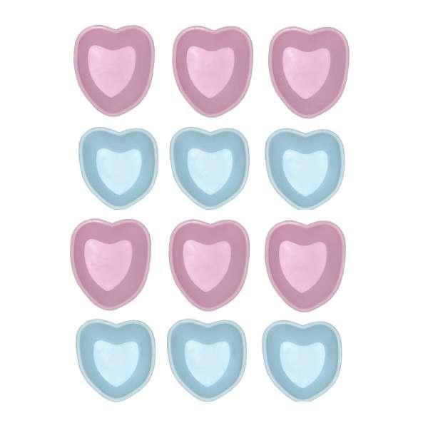 12er Set Mini Silikon Backform Bärchen Herz pink blau Cupcake Form Muffin Kinder Party