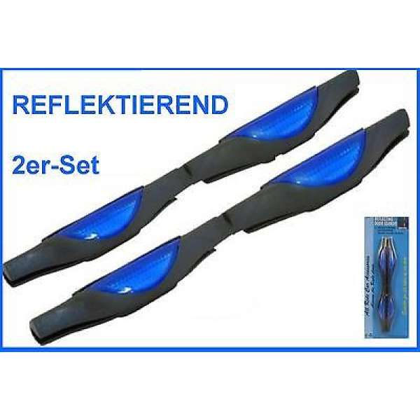 2x Autotür Schutzleiste Türschutzleiste Reflektor blau Auto Tür Kantenschutz KFZ