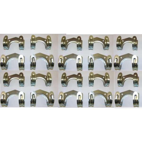 20x Gerätehalter Werkzeughalter Stahl-Haken Gerätehaken Universal Halter