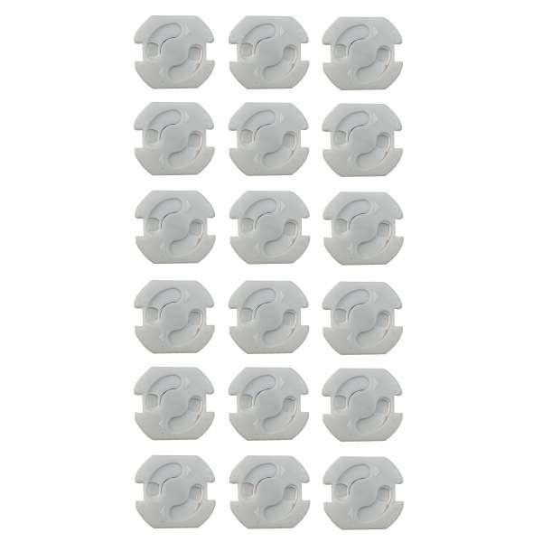 18x Steckdosen-Sicherung zum Einkleben Kinderschutz Steckdosenschutz Kinder