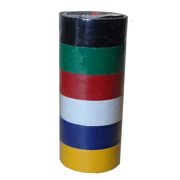 6 Rollen farbiges Isolierband isolieren Isoband Klebeband 19mm x 2,5m bunt PVC Set