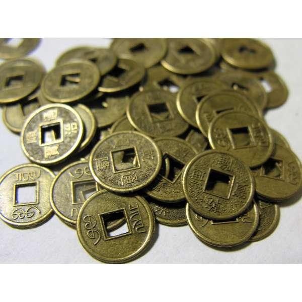 100 x chinesische Glücksmünzen Feng Shui Talisman Glücksbringer Käsch