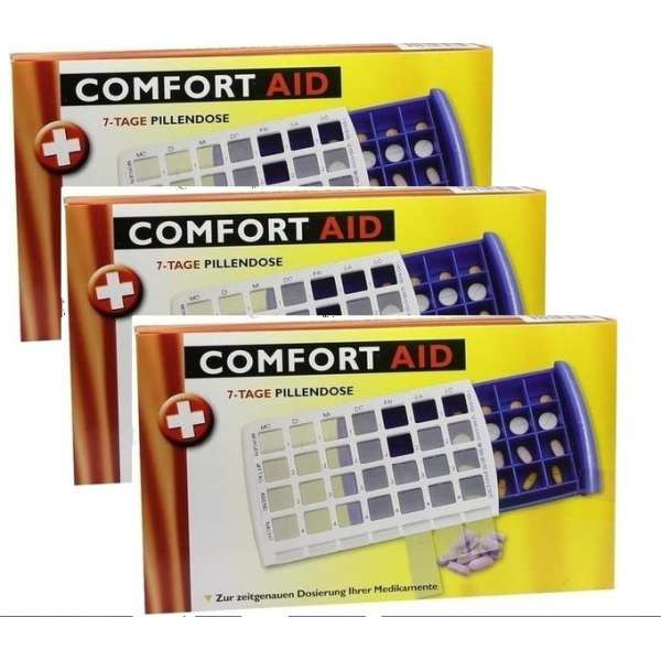 3 x 7-TAGE TABLETTENDOSE PILLENDOSE Pillenbox Tablettenbox Spender Medikamenten-Box