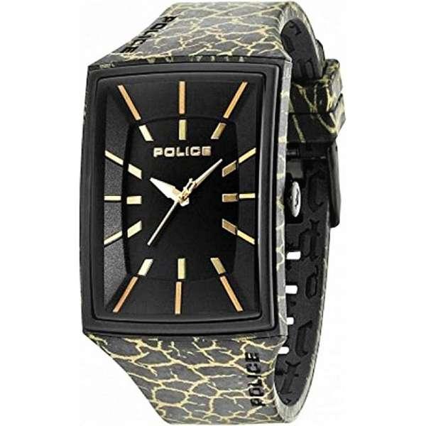 Police Herren-Armbanduhr Vantage X große Analog Quarz Silikon-Armband Camouflage