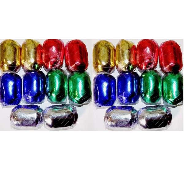 20x Geschenkband Ringelband Geschenk Band Dekoband 10m Metallic farben glänzend
