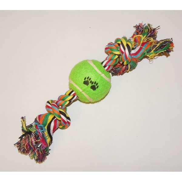 Hundespielzeug Strick Tennisball Ziespielzeug Spielzeug Ball Hund robust stabil