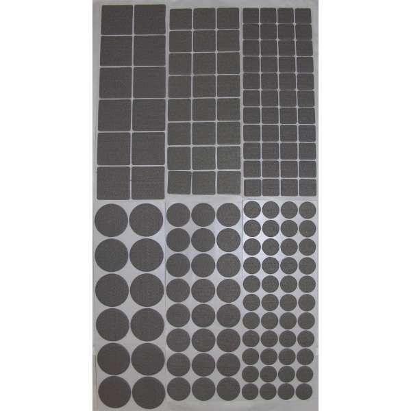 160 Filzgleiter selbstklebend Grau Klebe-Filz Möbelgleiter 6 Größen