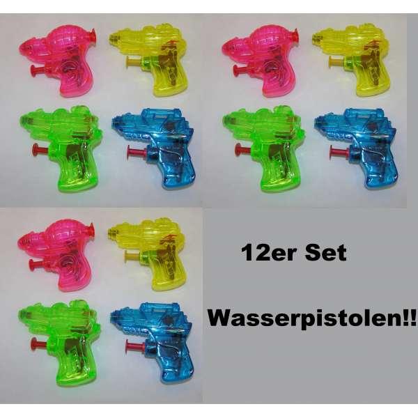 12x Kinder Wasserpistole Spritzpistole Wasserspritze Mitgebsel Tombola Party Mini
